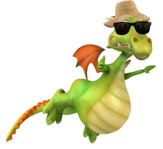 Ivor the Dragon goes on holiday, but has to make a compensation claim